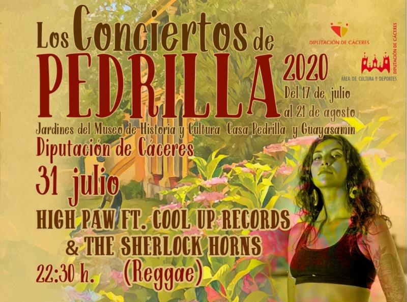 Sonidos de raíz jamaicana, este viernes, en Los Conciertos de Pedrilla con High Paw