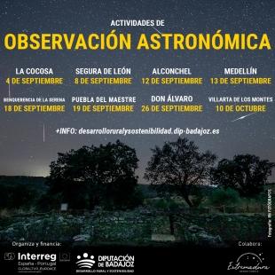 La Diputación organiza actividades de observación astronómica en diferentes comarcas de la provincia