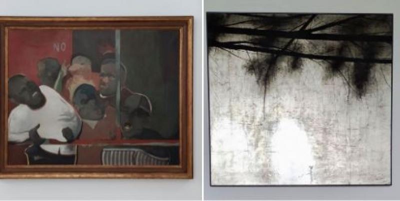 Diputación restaura un 'Barjola' y un 'Chiang' de su colección de Arte Contemporáneo.