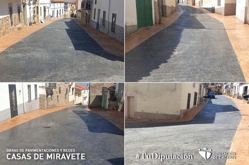 Concluyen las obras de pavimentación y redes del Plan Activa 2020 en Casas de Miravete