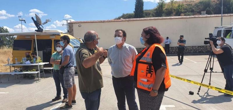 Fernández Vara agradece al Gobierno Central y Gobiernos Autonómicos los medios puestos a disposición de Extremadura para la extinción de los incendios