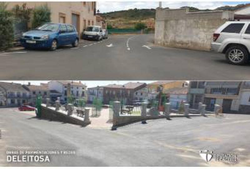 Diputación de Cáceres finaliza las obras de pavimentación y redes en Deleitosa