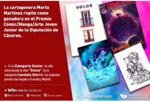 La cartagenera Marta Martínez repite como ganadora en el Premio Cómic/Manga/Arte Joven Junior de la Diputación de Cáceres