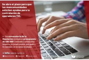 Se abre el plazo para que las mancomunidades soliciten las ayudas para la contratación de operadores TIC