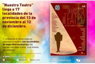 'Nuestro Teatro' llega a 17 localidades de la provincia del 13 de noviembre al 12 de diciembre