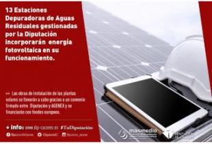 Trece EDAR gestionadas por Diputación de Cáceres incorporarán energía fotovoltaica en su funcionamiento