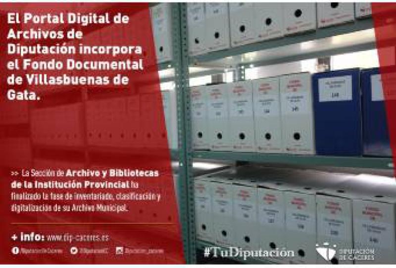 El Portal Digital de Archivos de Diputación incorpora el Fondo Documental de Villasbuenas de Gata