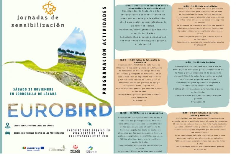 La Diputación organiza un programa de actividades ornitológicas en las tres comarcas transfronterizas de la provincia