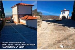 Finalizadas las obras de pavimentación en torno a la Ermita del Cristo de la Misericordia en Pasarón de la Vera