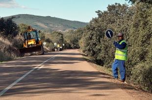Cortes intermitentes en la Carretera Provincial BA-131, Los Santos de Maimona (N-630) a Valencia de las Torres