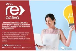 'ReActiva Emprende': 200.000 euros para apoyar la puesta en marcha de negocios o Pymes en los municipios de la provincia