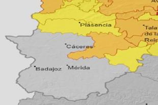 Este viernes y sábado permanecen activas las alertas por nieve en Extremadura