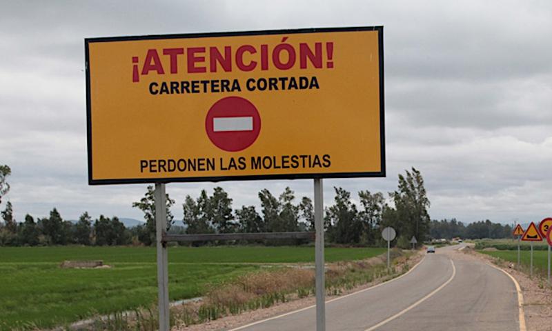 La Carretera Provincial BA-155, de Villalba de los Barros a Salvatierra de los Barros permanecerá cortada