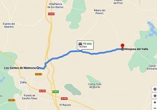 Cortes intermitentes en la Carretera Provincial BA-131, de Los Santos de Maimona a Valencia de las Torres