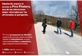 Diputación mejora el acceso al Pico Pitolero, una de las ubicaciones mejor valoradas por los aficionados al parapente