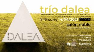 El Trío Dalea, integrado por alumnos del CSMB, ofrecerá un concierto en el Salón Noble de la Diputación