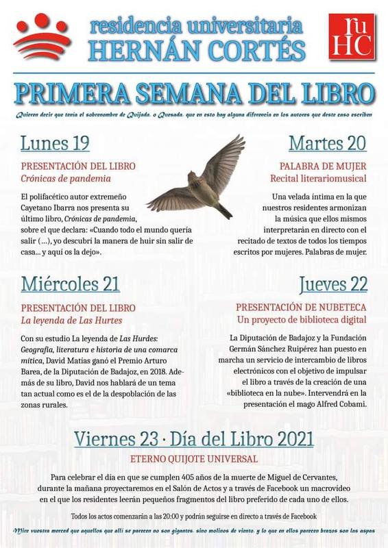 La Residencia Universitaria Hernán Cortés organiza su I Semana del Libro