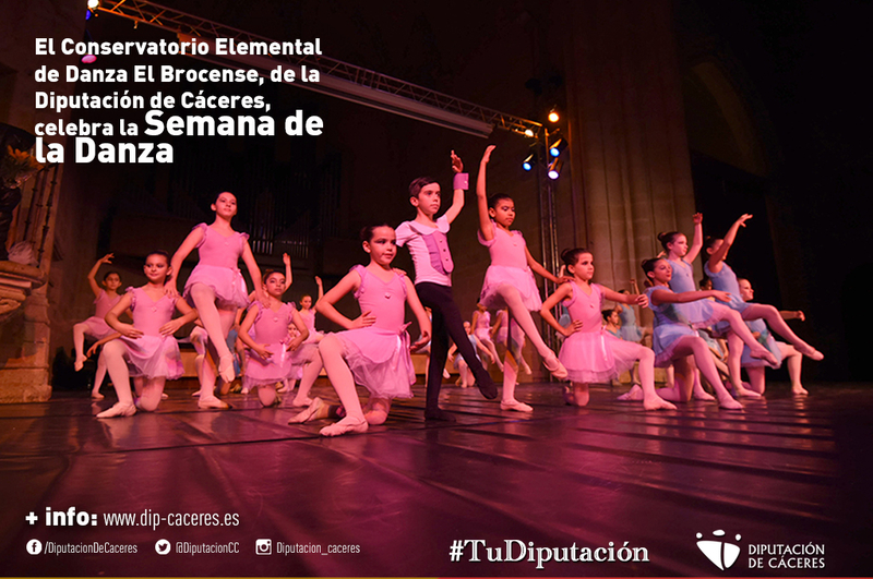 El Conservatorio Elemental de Danza El Brocense, de la Diputación de Cáceres, celebra la Semana de la Danza