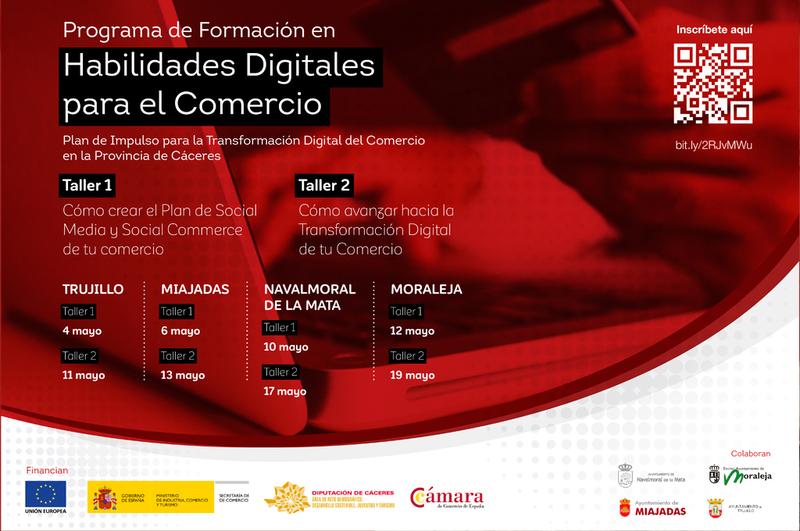Comienza la formación en habilidades digitales para el comercio minorista en la provincia de Cáceres