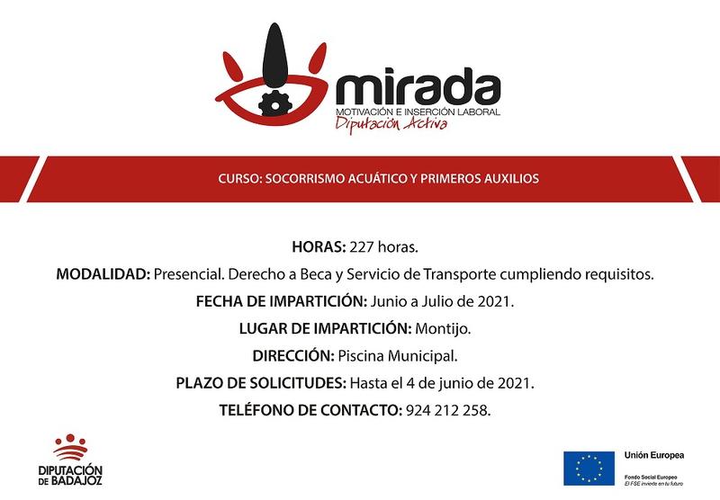 La Diputación de Badajoz comenzará una acción formativa de ''Socorrismo acuático y primeros auxilios'' en Montijo