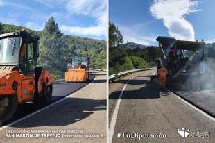 En ejecución las obras en las vías de acceso a San Martín de Trevejo