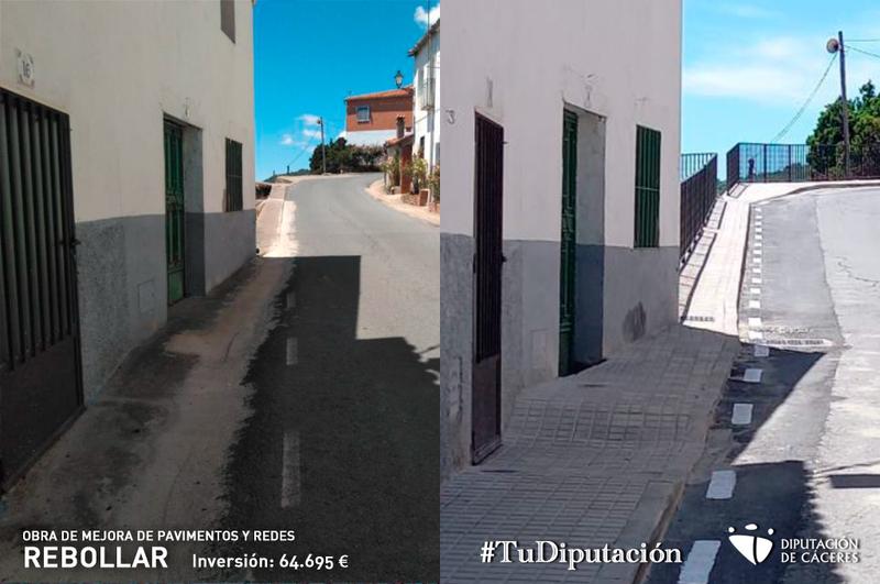 Finalizadas las obras de mejora de pavimentos y redes en Rebollar