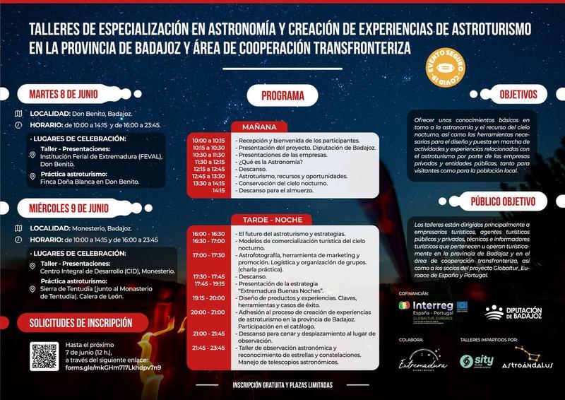Talleres de Especialización en Astronomía y Creación de Experiencias en Astroturismo en la provincia
