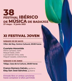 Los guitarristas Franco Romero Galván y Eloy San José Sánchez ofrecerán un concierto el sábado 5 de junio en la Casa de la Cultura de Táliga