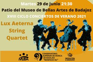 El cuarteto de cuerda Lux Aeterna abrirá el XVIII ciclo de conciertos de verano organizado por el MUBA