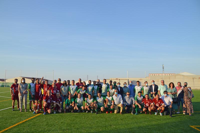 Fuente de Cantos estrena su nuevo campo de fútbol de césped artificial Juan Iglesias 'Juanito'