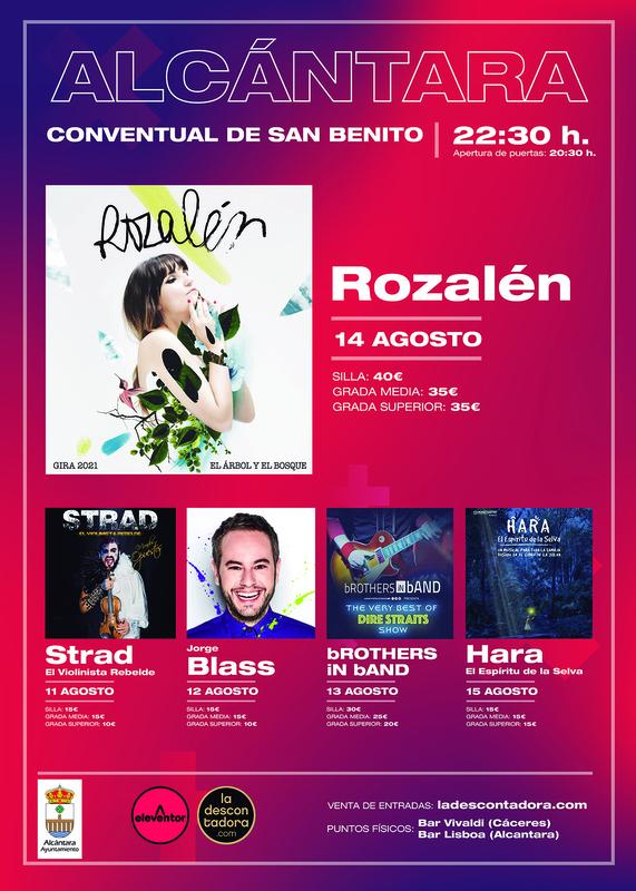 Rozalén actuará el 14 de agosto en el Conventual de San Benito de Alcántara