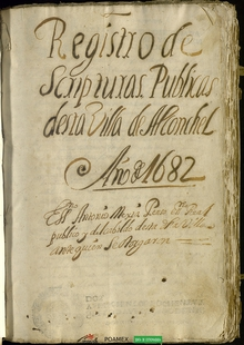 El Archivo Provincial publica un protocolo notarial de Alconchel entre 1682 y 1685