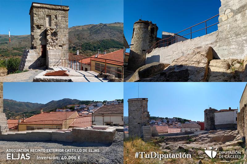 La Diputación termina las obras de adecuación e interpretación del recinto exterior del Castillo de Eljas