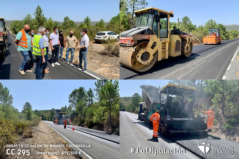 La Diputación avanza en la mejora de los accesos a Monfragüe, con las obras de la CC-29.5 Mirabel-Serradilla y de la conexión con la Ex-390