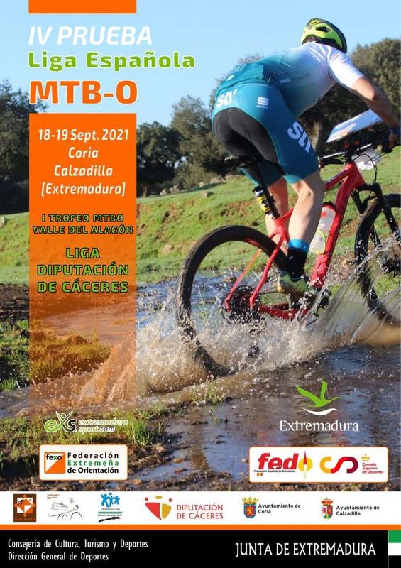 Extremadura acoge este fin de semana la Liga Española de Orientación MTB-O y varias pruebas del Circuito Euroace Sport