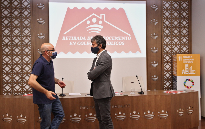 La Diputación de Badajoz destina 400.000 euros en subvenciones para eliminar el fibrocemento en los colegios y centros educativos infantiles de la pro