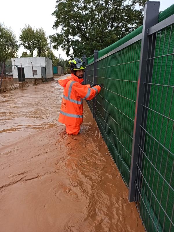 El Consorcio de la Diputación de Badajoz realizan múltiples intervenciones a causa de las fuertes lluvias caídas en las últimas horas en nuestra provi