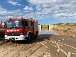 Los bomberos de la Diputación de Badajoz continúan trabajando en los pueblos afectados por las fuertes lluvias caídas en nuestra provincia