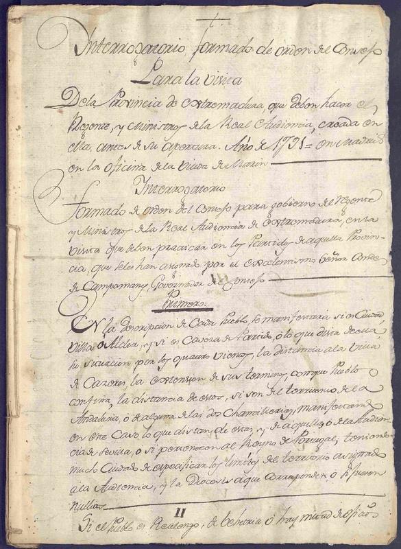 Cabeza la Vaca y su Interrogatorio de la Real Audiencia en 1791