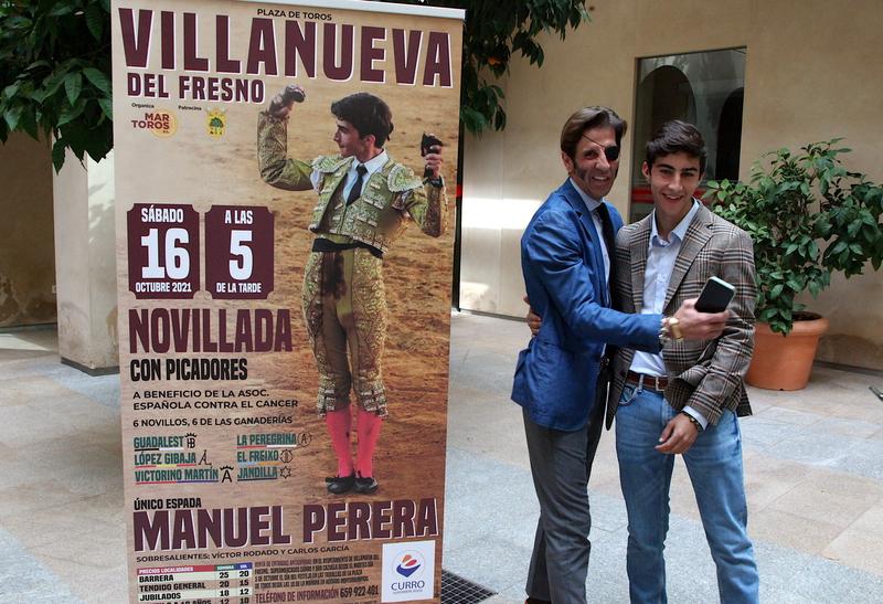 Manuel Perera se enfrentará a seis novillos el próximo 16 de octubre en Villanueva del Fresno