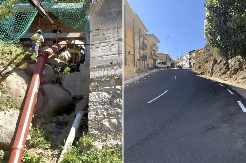 El Plan Activa de la Diputación interviene en la vía principal de acceso a la localidad de Eljas