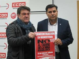 CCOO y UGT animan a la sociedad extreme�a a acudir a la concentraci�n en rechazo al cierre de la mina Aguablanca