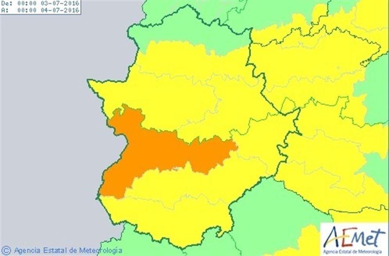 Extremadura estar� en alerta por altas temperaturas el domingo, que ser� de nivel naranja en las Vegas del Guadiana