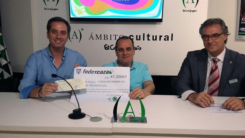 Fedexcaza dona 1.300 euros a un proyecto de investigaci�n sobre lesiones cerebrales de la Fundaci�n Primera Fila