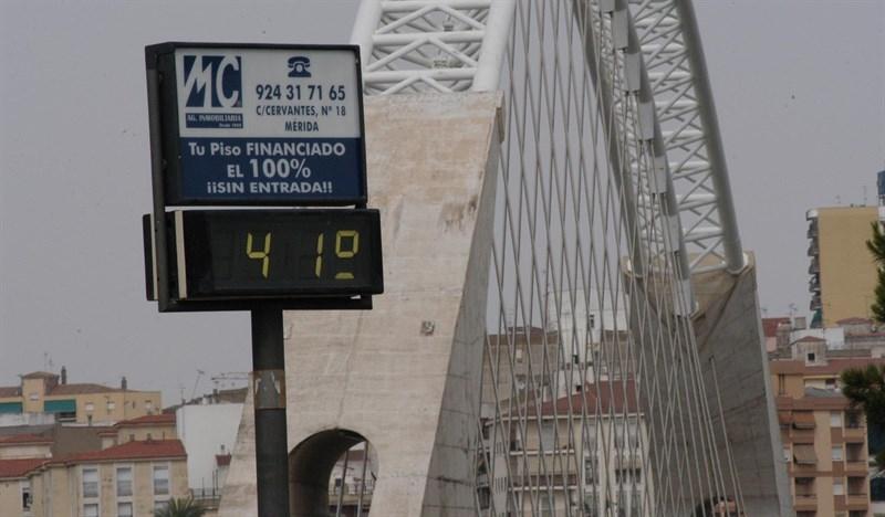 Gran parte de Extremadura, en alerta naranja este jueves por temperaturas de hasta 40 grados