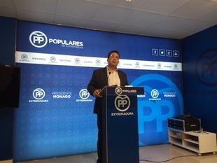 El PP extreme�o pide a Vara que los diputados regionales del PSOE en el Congreso se abstengan para investir a Rajoy