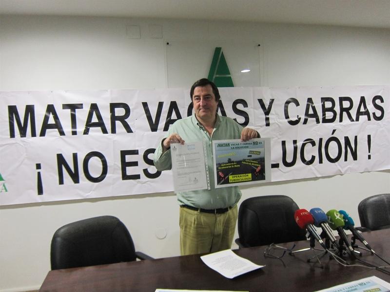 Asaja Extremadura anuncia cortes de carreteras para el Miércoles Santo por la falta de respuesta a la tuberculosis
