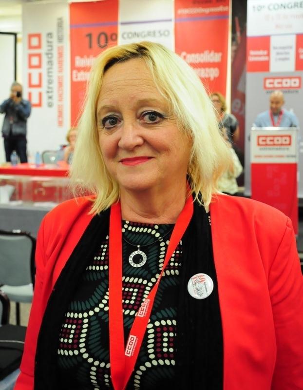 Encarna Chacón, elegida nueva secretaria general de CCOO de Extremadura con el 51% de los votos