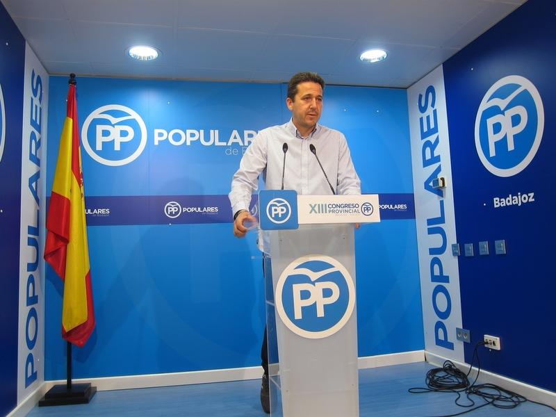 Víctor Píriz (PP) tacha de ''engaño'' las enmiendas a los PGE presentadas por el PSOE para Extremadura