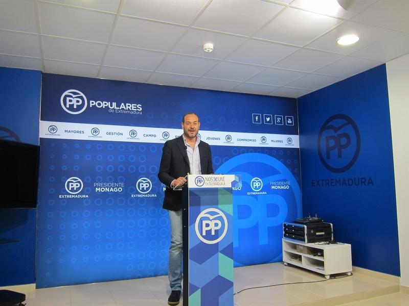 El PP reclama a Vara que pida perdón y asuma la responsabilidad política por el grave caso de corrupción de Feval